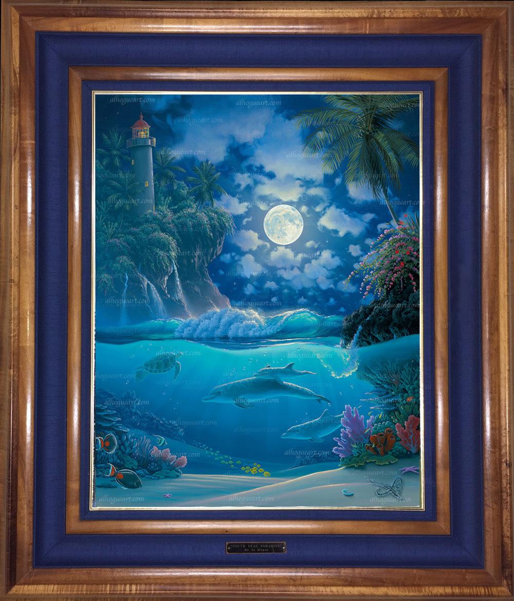 """Garden of Light"" 24 x 30 oil on canvas ( framed in a Hawaiian Koawood frame )"