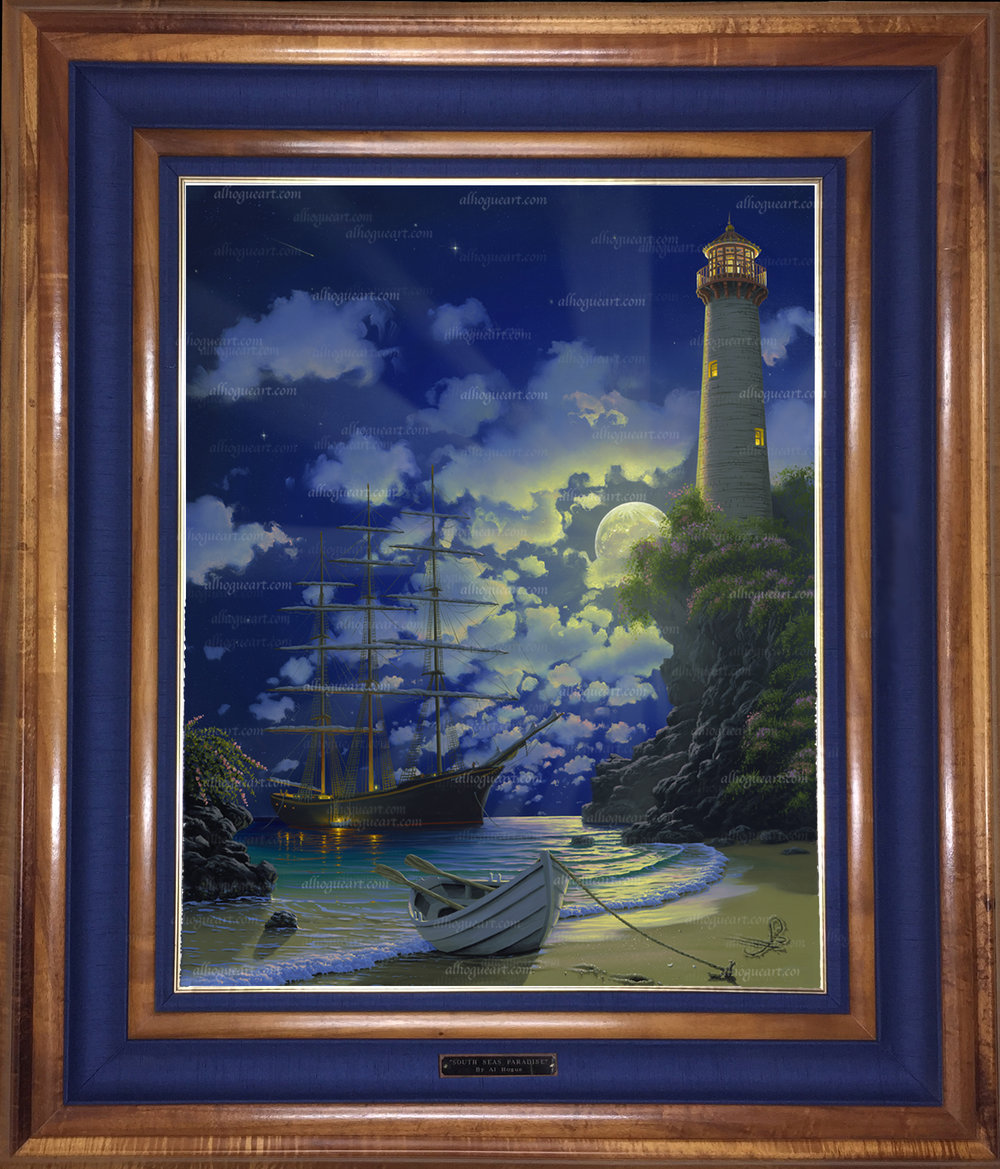 """""""Destiny's Light"""" 24 x 30 oil on canvas ( Framed in a Hawaiian Koawood frame )"""