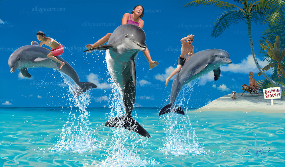 """Would your kids or Grandkids like a """"Dolphin Ride""""?"""
