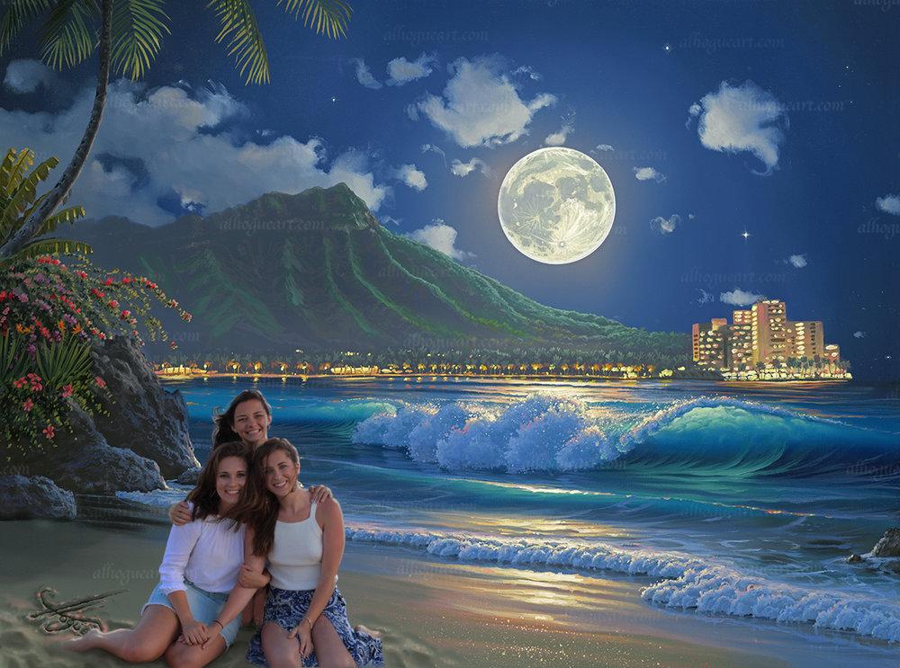 Best friends in Waikiki Hawaii
