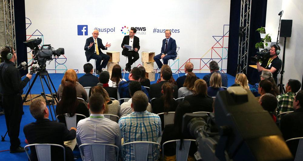 Australian Federal Election Debate Live Broadcast – Facebook HQ, Sydney