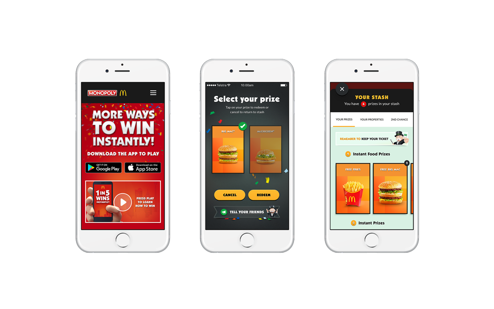 Maccas app prizes images