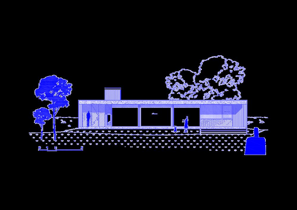 Woning aan het meer - aanzicht