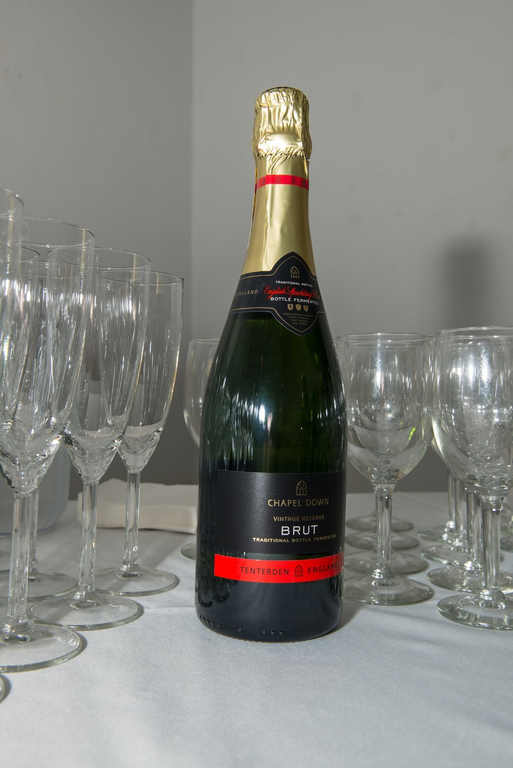 The sparkling wine was kindly donated by  Chapel Down .