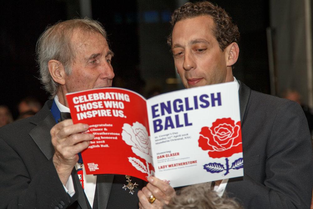 Jim Dale MBE & John Romeo read English Ball program