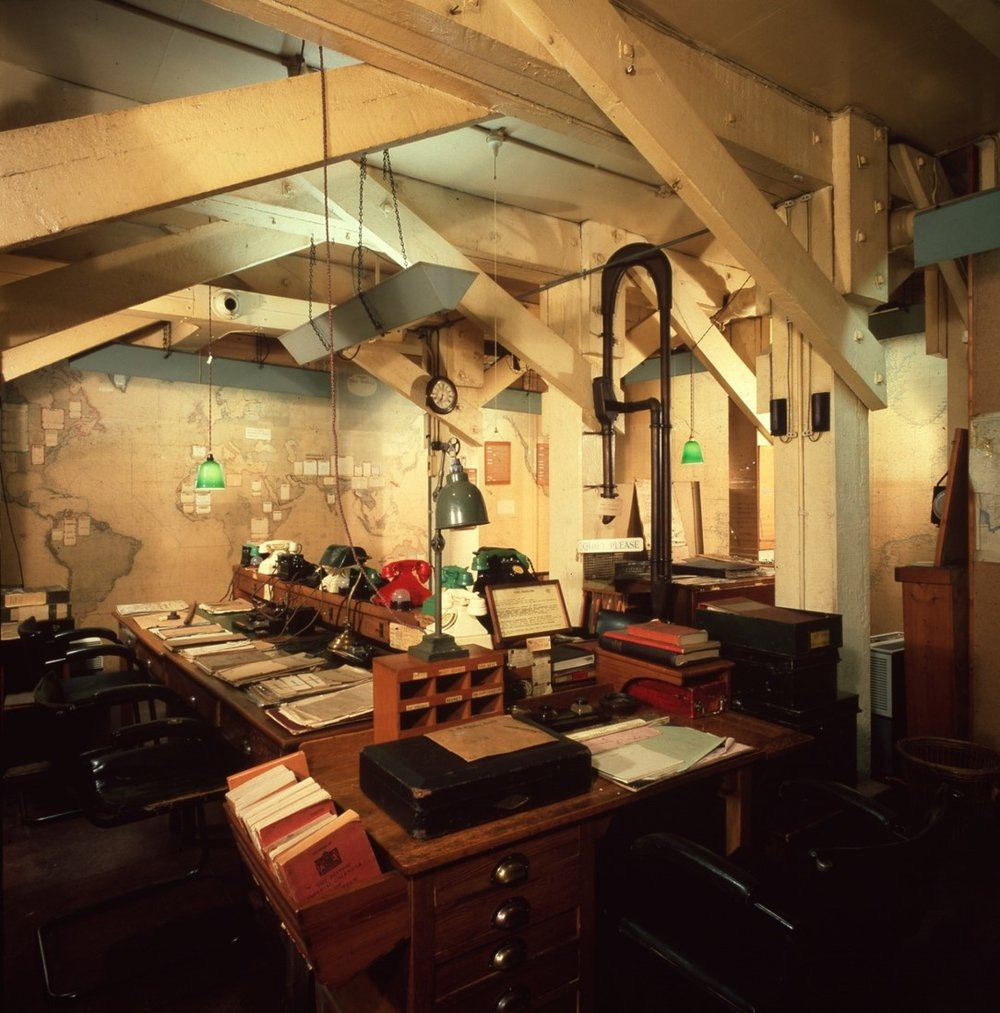 Churchill War Rooms. By permission of The Imperial War Museums