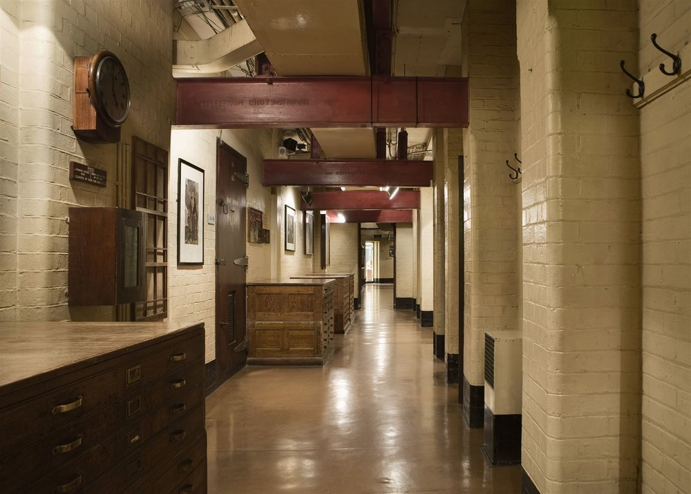Churchill War Rooms Corridor. By permission of The Imperial War Museums