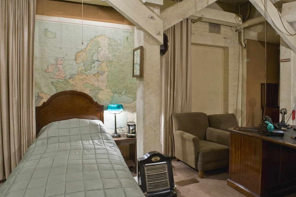 Cabinet War Room Bedroom. By permission of The Imperial War Museums