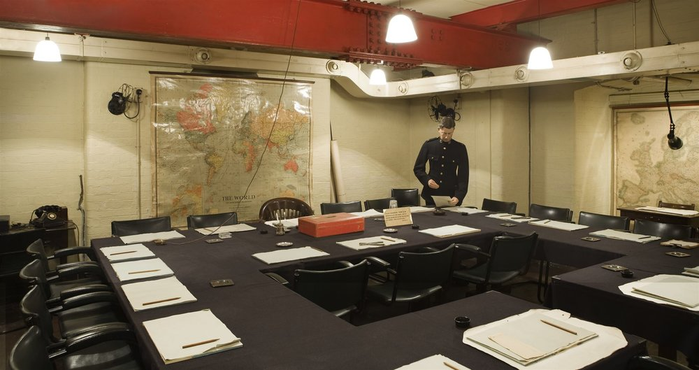Churchill War Room. By permission of The Imperial War Museums