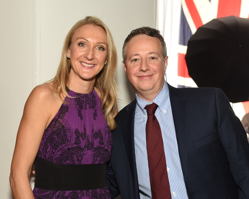 Marc pictured with Paula Radcliffe MBE at the 2017 British Bash