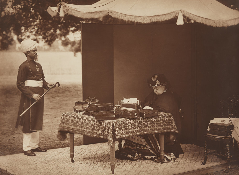 Sheikh Chidda, Abdule Karim and Queen Victoria, 1893 © National Portrait Gallery, London