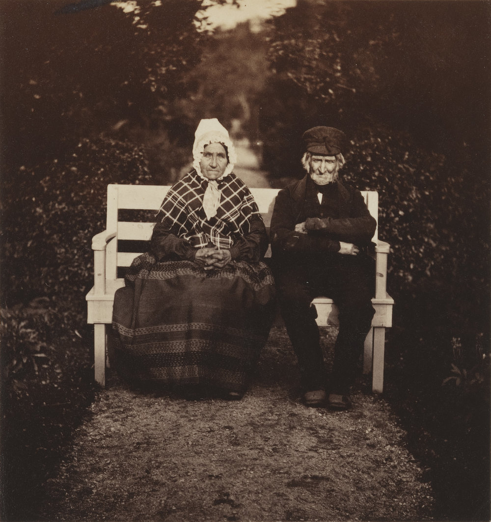 The old gardener Simpson and his wife; 1854 © National Portrait Gallery, London