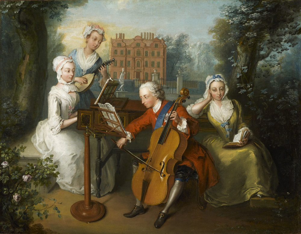 The Music Party, Philip Mercier, 1733 ©National Portrait Gallery, London