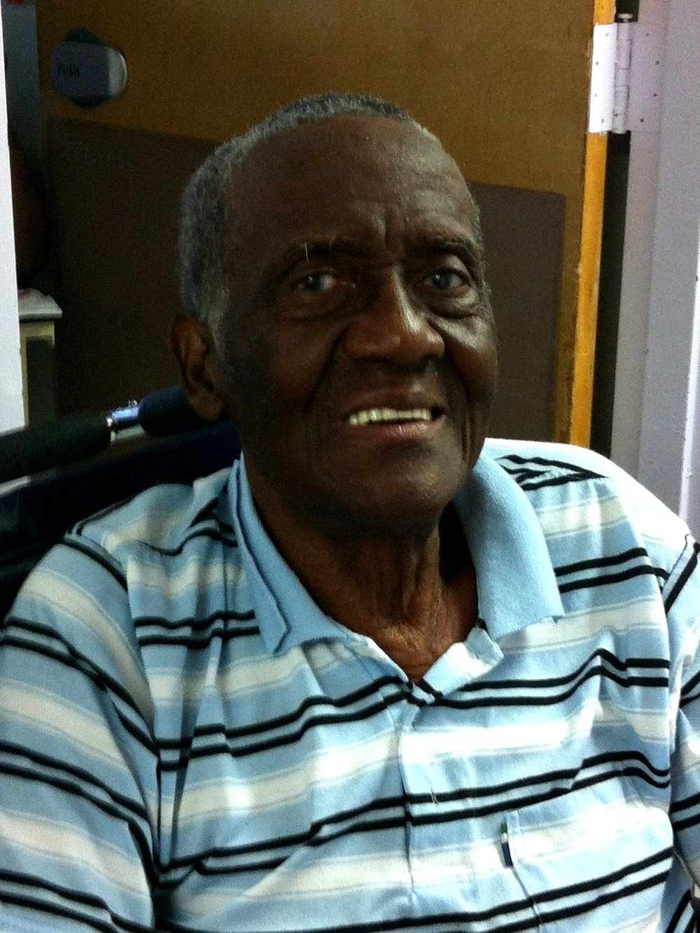 An immigrant from Jamaica, Alvin worked as a tailor before his age and disability prevented him continuing.