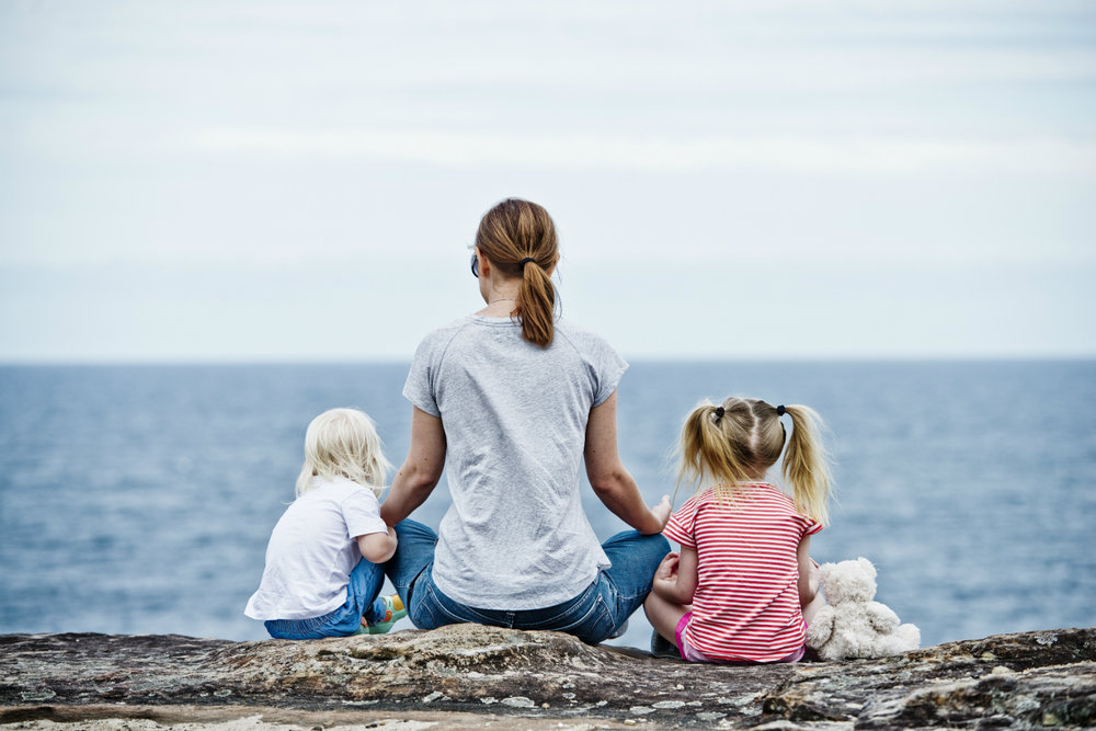 Finding peace with small kids around can be challenging. Photo: Daniel Guerra