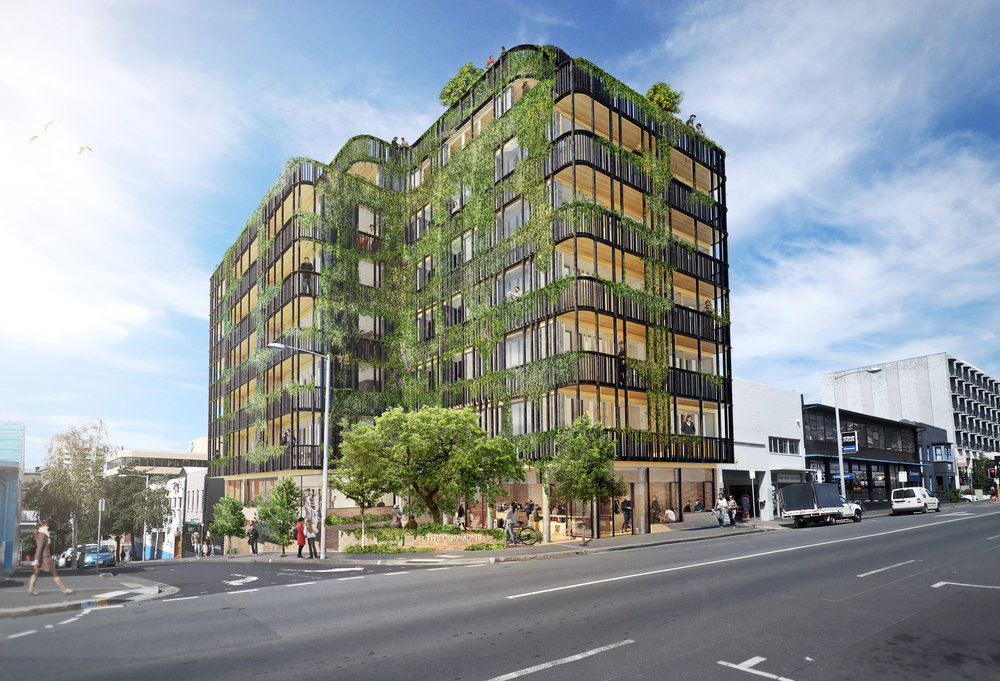 The Commons Hobart pictured on its proposed central city site in Bathurst Street, Hobart.