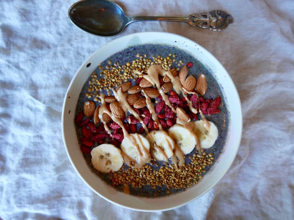 One of the smoothie bowls I am hooked on making these days
