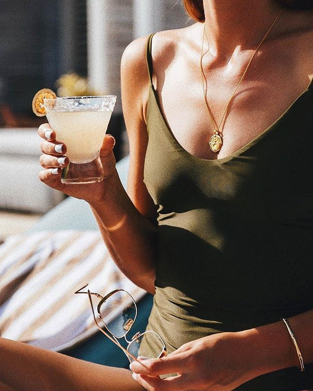 Because it's 6pm somewhere in the world... @_hollyt giving the #lucywilliamsXmissoma Octagon Medallion Necklace right of place
