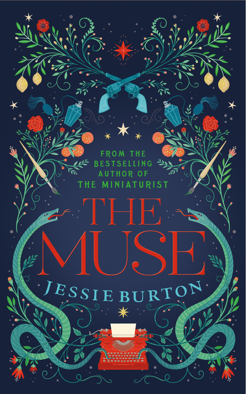 Cover art by Lisa Perrin for Jessie Burton's novel, The Muse. Published by Picador Publishing
