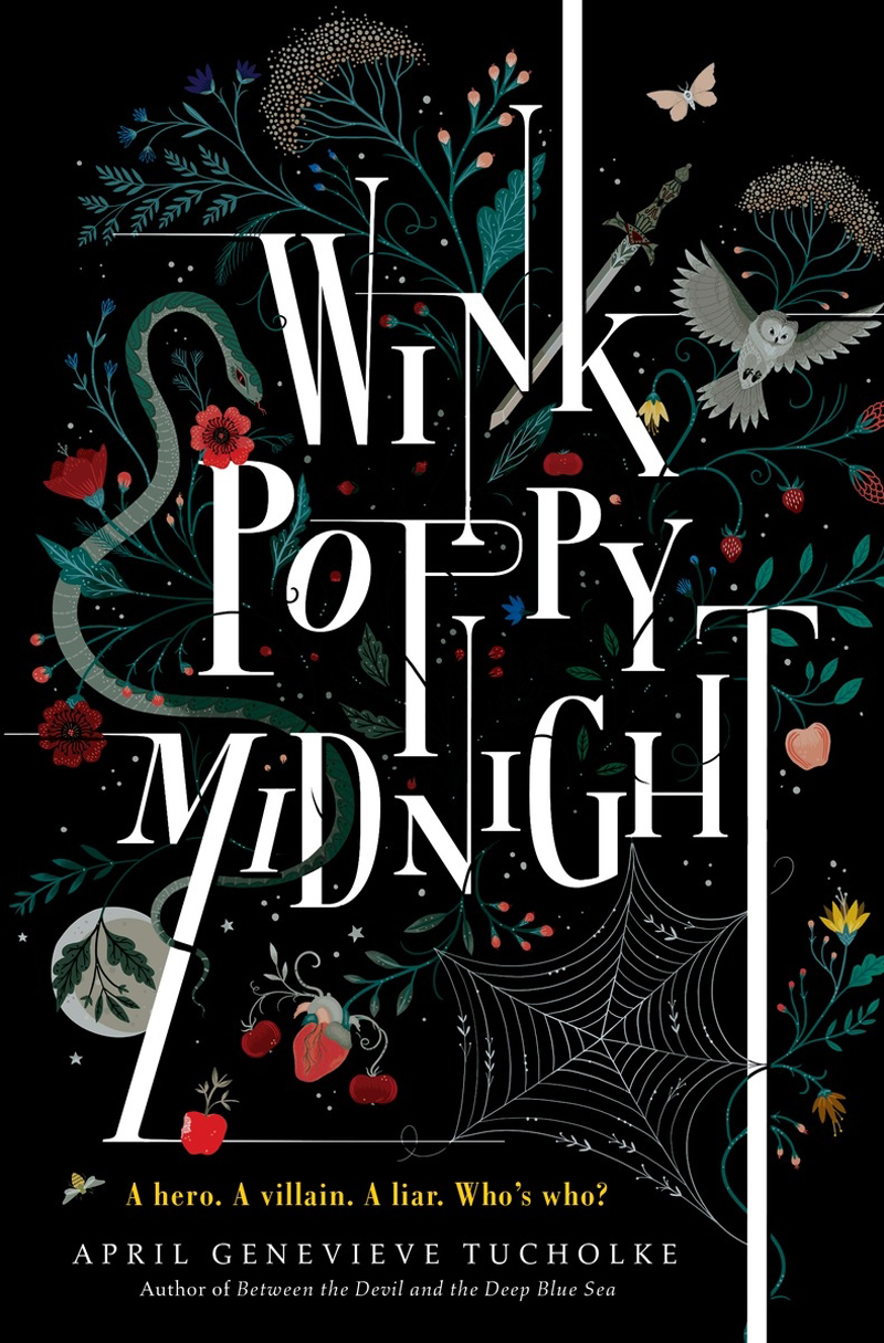 Cover art by Lisa Perrin for April Genevieve Tucholke's novel, Wink, Poppy, Midnight. Published by Penguin Random House