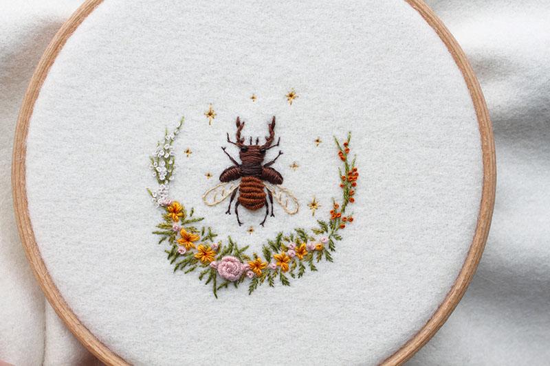 Adam Pritchett stag beetle wreath 2017