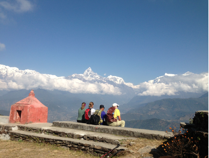 Farewell to Machapuchare (Fishtail) Mountain, Sarangkot, Nepal, 2013