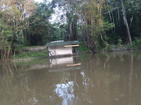 "Two hours later, we were dropped off at the Amacayacu River ""bus stop."" Amazon, Colombia, 2015."