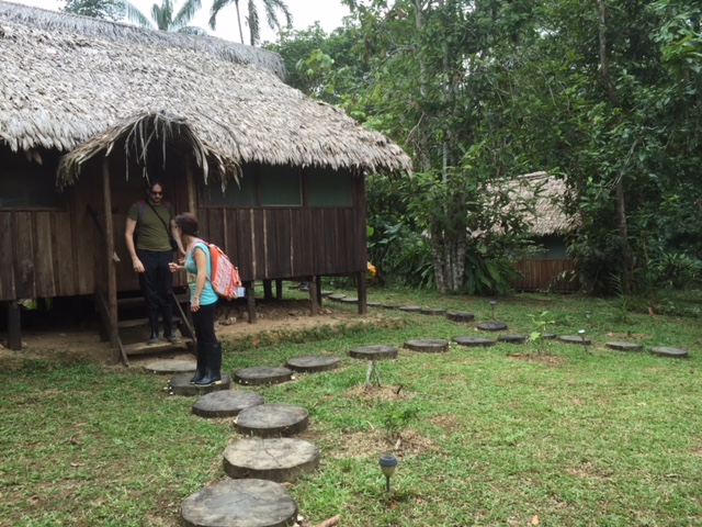 Yoi Ecolodge huts.  Amazon, Colombia, 2015