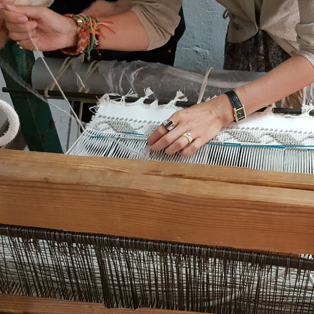 Our team at work - they create the most precious fabrics