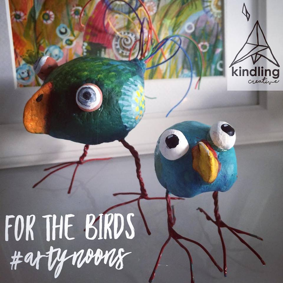 'for the birds' - Artynoons drop-in making and painting sessions.