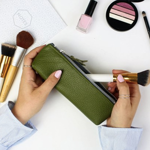 Mongrammed Leather Brush Bag or Pencil Case.jpg