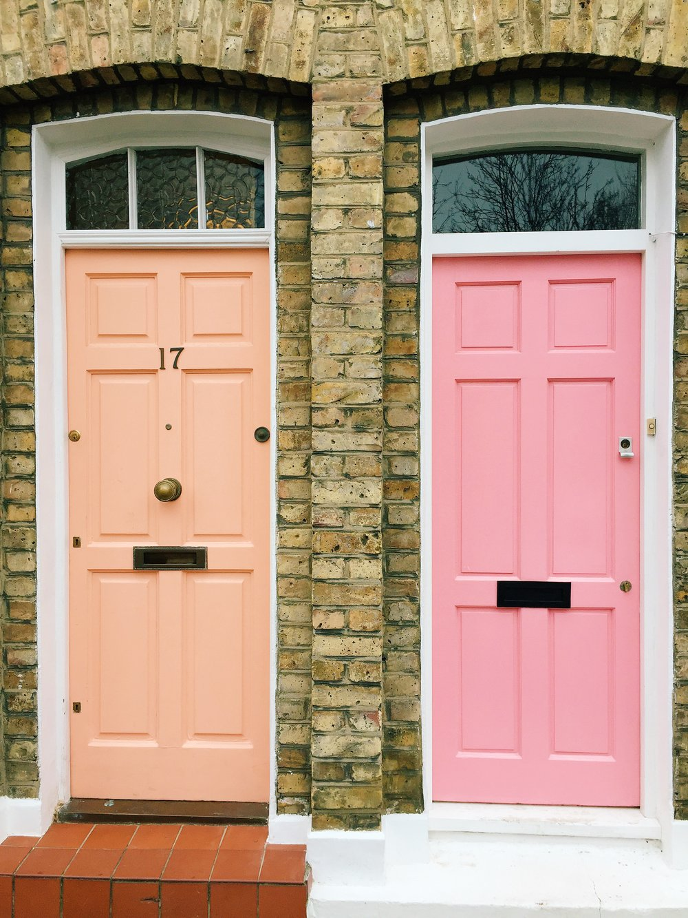 Pink and Peach Doors Columbia Road.JPG