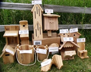 $10.00 per birdhouse, plus tax