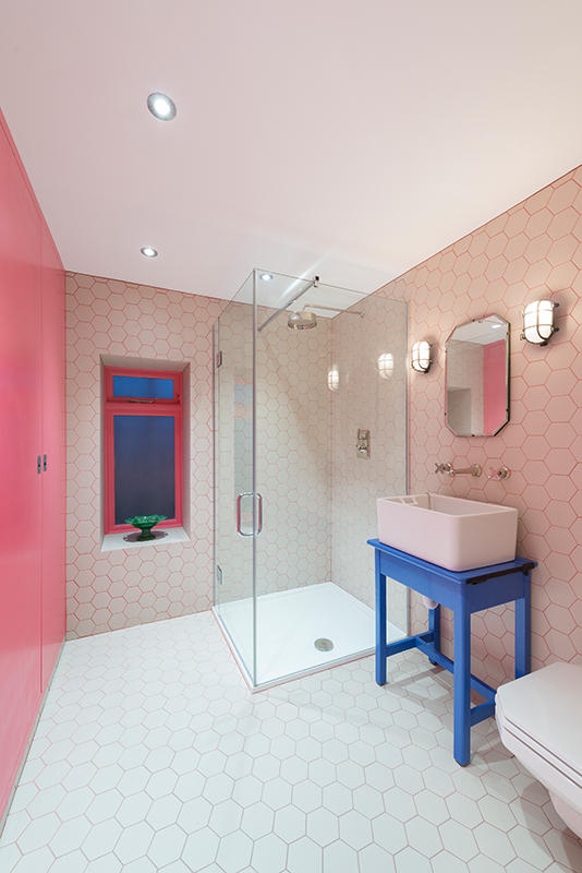 pink-hexagon-shower-room