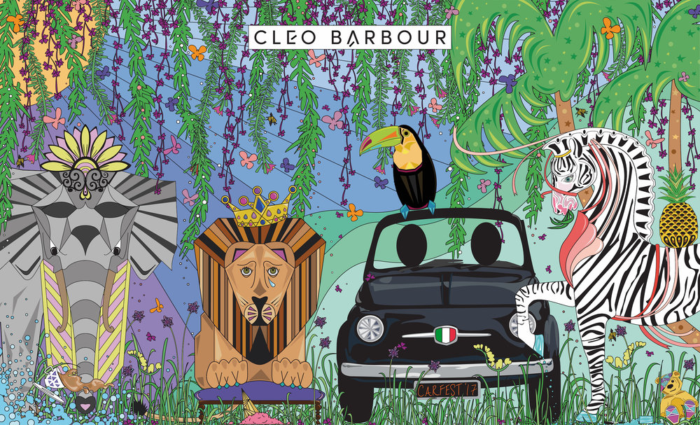 tropical-peep-board-carfest-cleo-barbour
