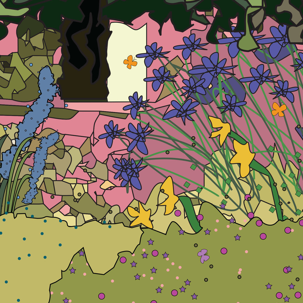flowerbed-butterflies-artist-commission