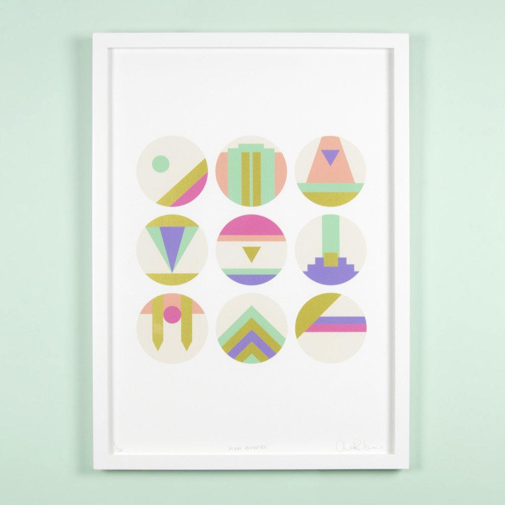 Miami-geometric-abstract-print
