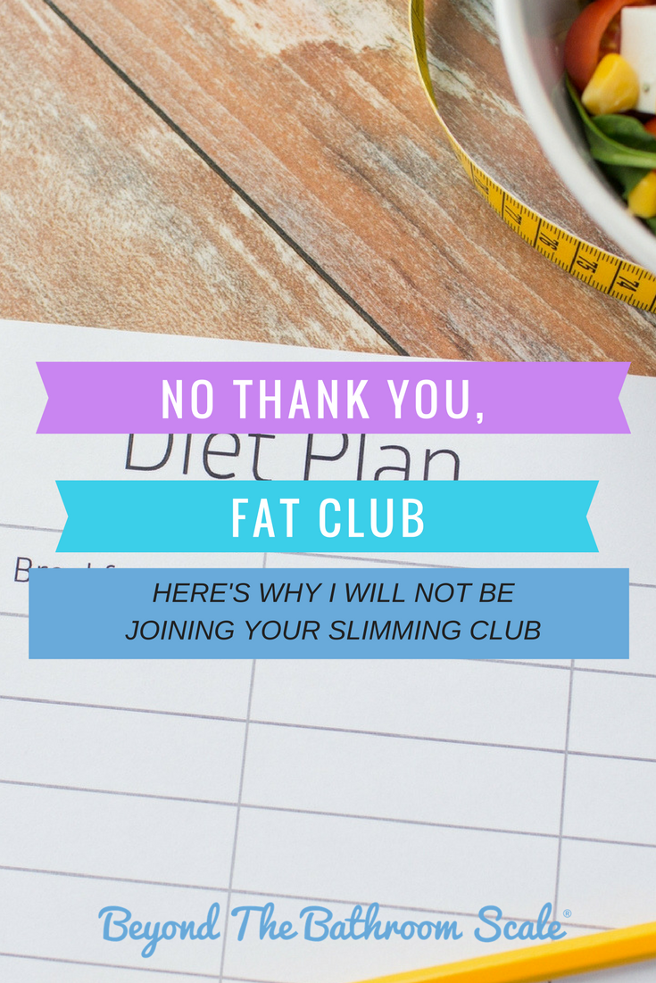 The problem with slimming clubs