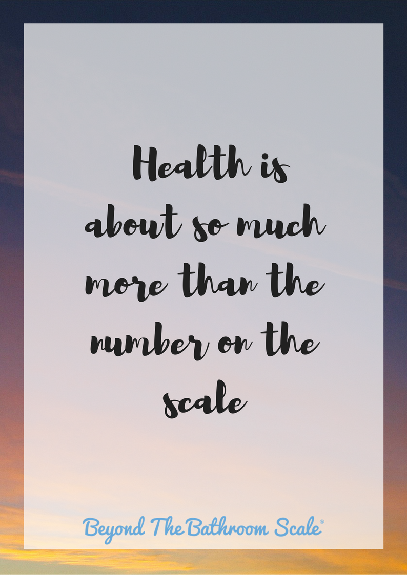 health is about more than the number on the scale