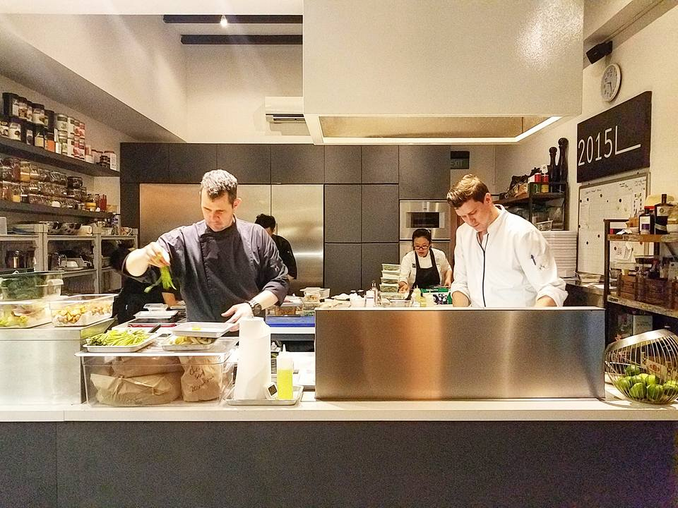 Chefs table by chef stephen zoisl race you to the bar chef stephen zoisl and chef lorenz raich in the comfort of their apartment like kitchen workwithnaturefo