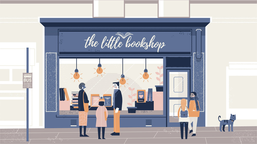 The Little Bookshop Illustration - Buttercrumble