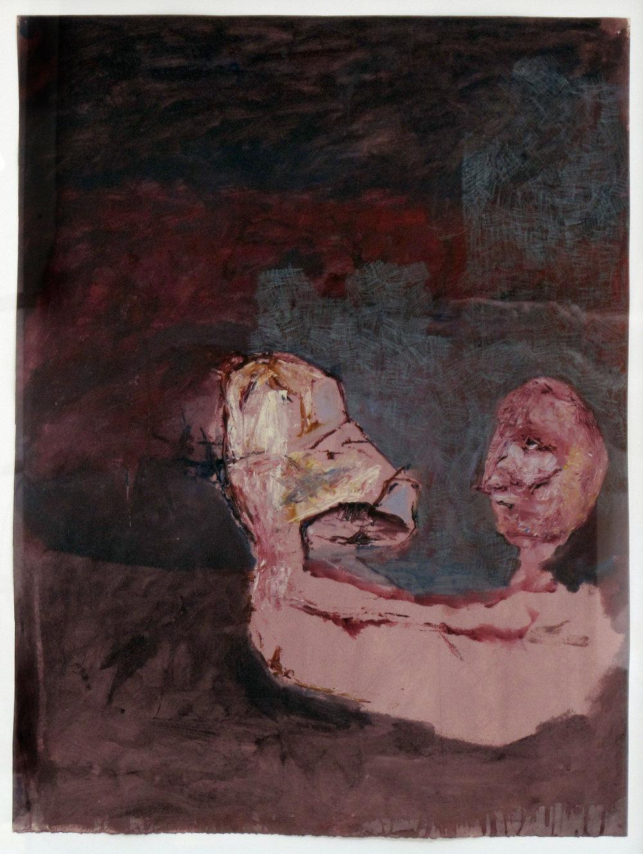 """I Wanna Know Myself,  2012 Acrylic on paper 26""""x19"""" $350"""