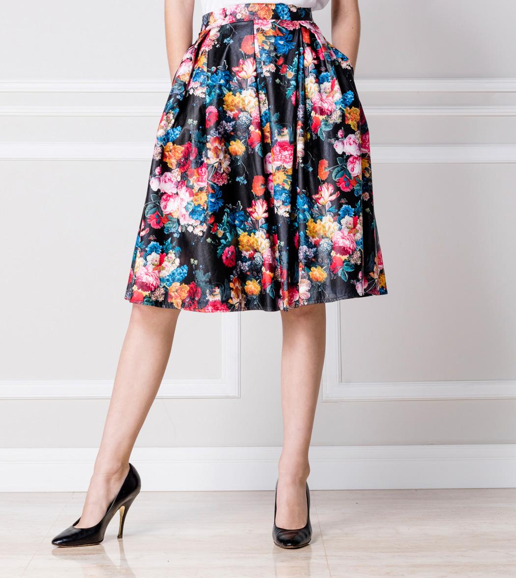 en venta 43b20 2d587 Falda de flores — Nathalia Forkin