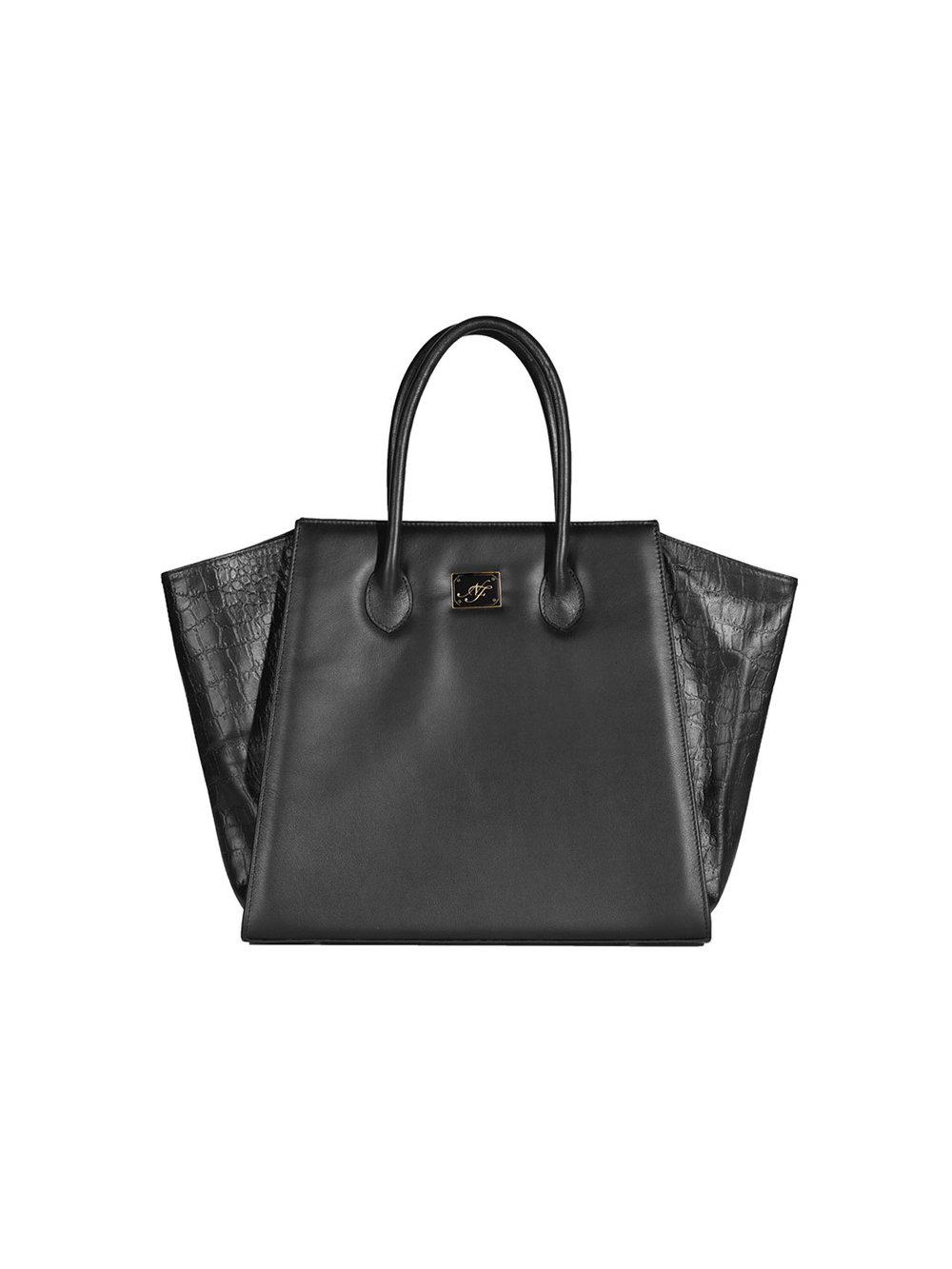 Bolsa Vbag negra grande - $275