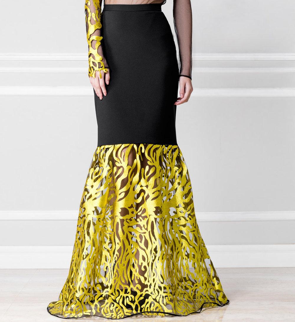 Falda negro y dorado - €230
