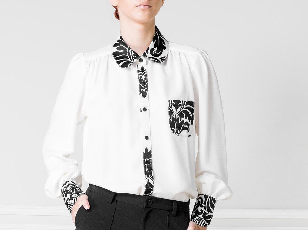 Camisa blanco y negro - €60