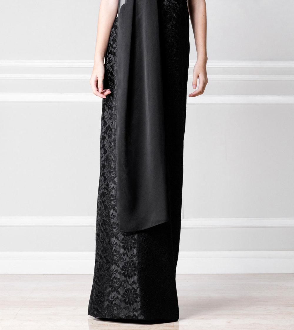 Falda negra larga - €110