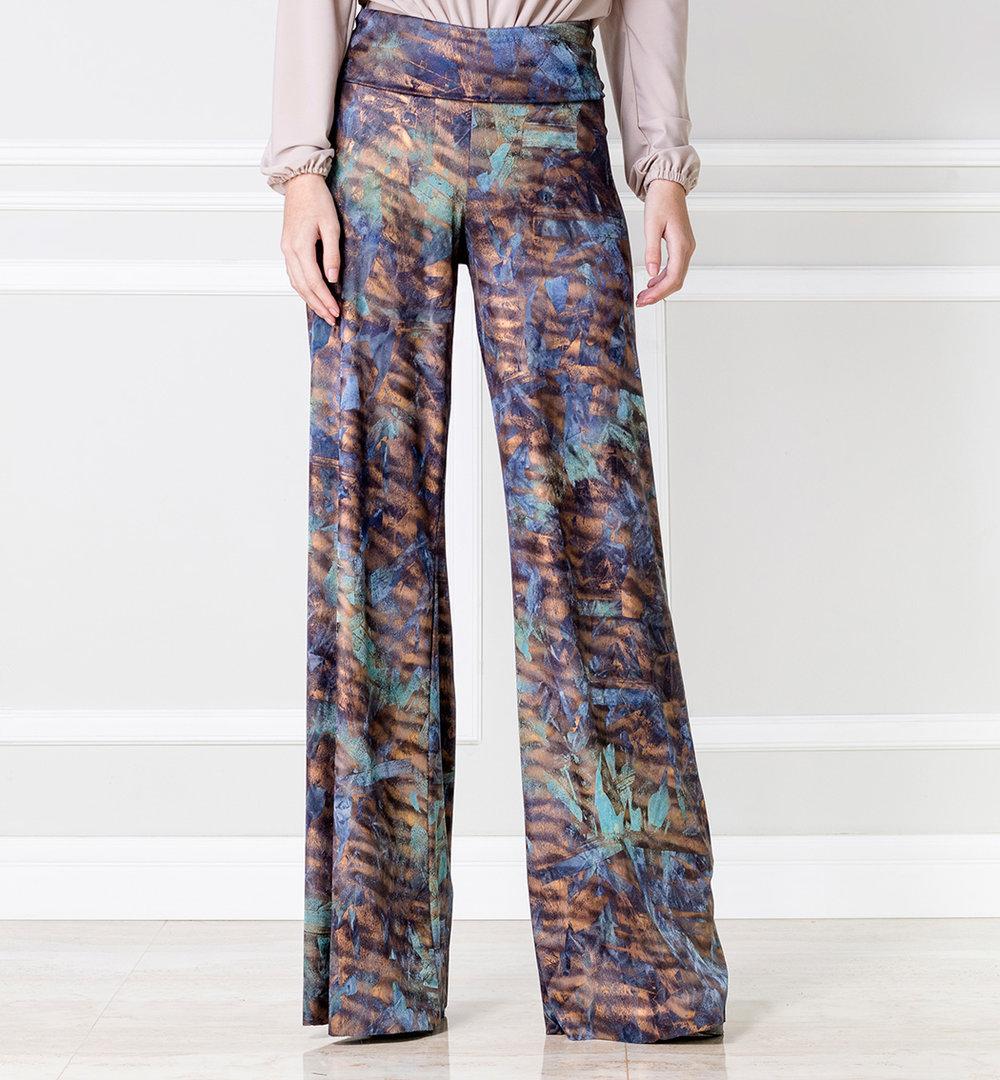 Pantalón bota ancha multicolor - €55