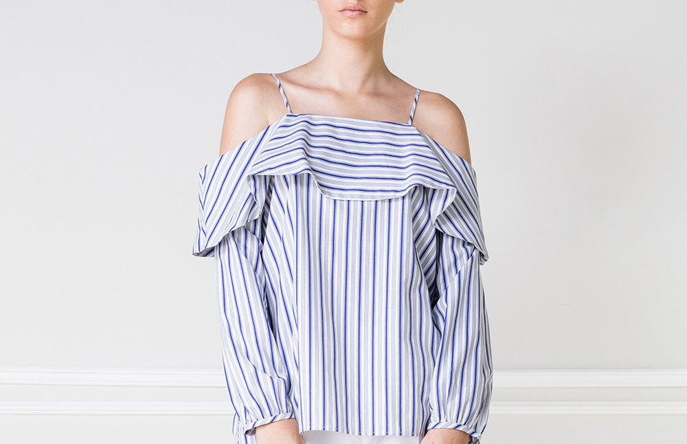 Top OFF-SH rayas azules - €50