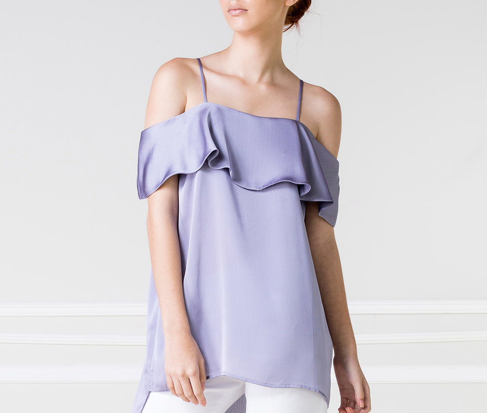 Top OFF-SH violeta - €45